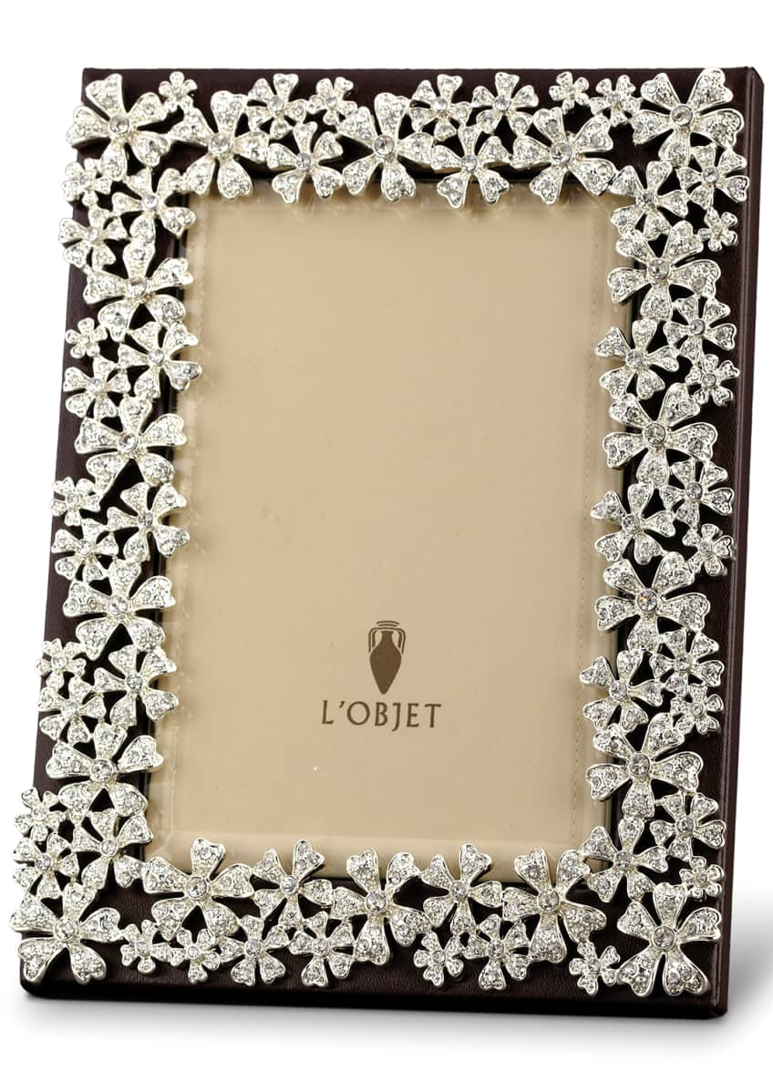 Image 1 of 1: Platinum-Plated Swarovski® Crystal Garland Picture Frame, 4 x 6