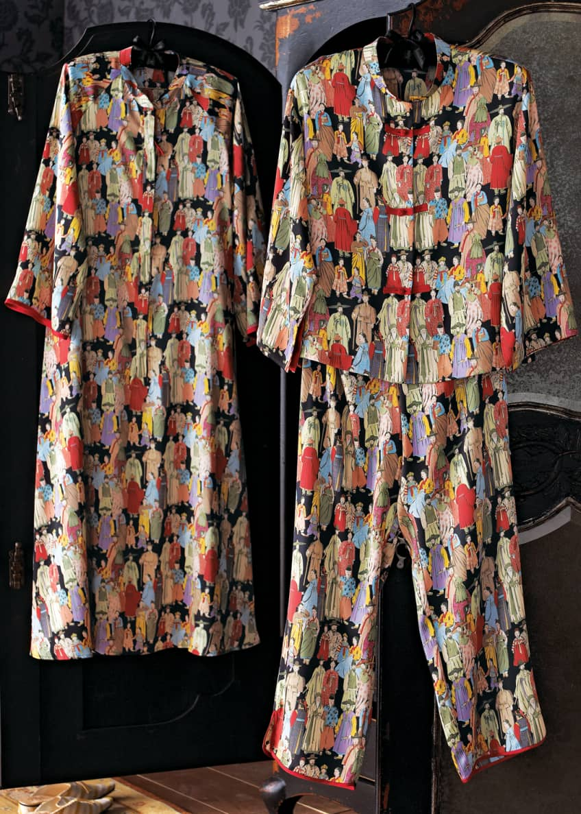 Image 2 of 2: Dynasty Zip Caftan