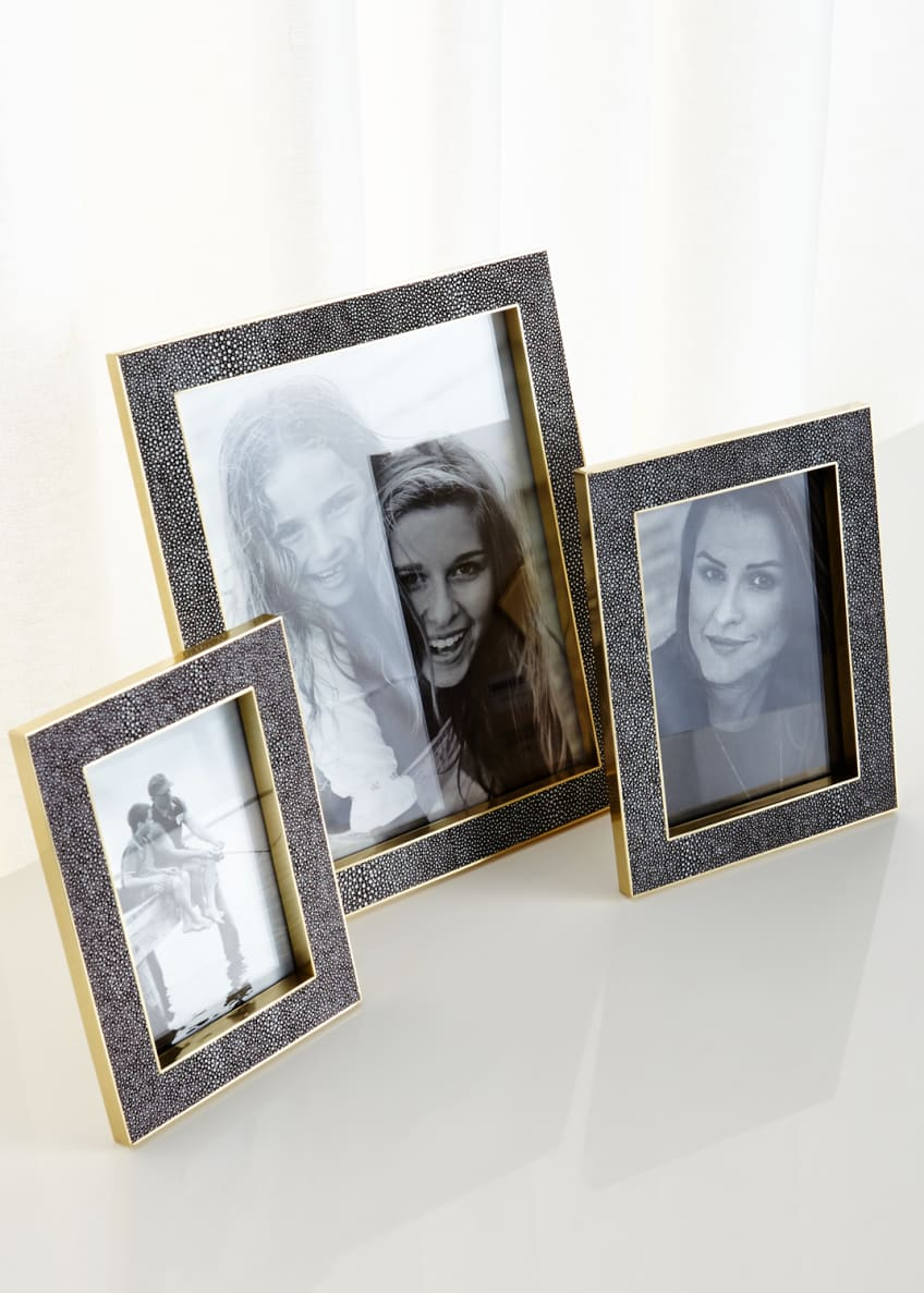 Image 1 of 1: Classic Chocolate Shagreen Frames