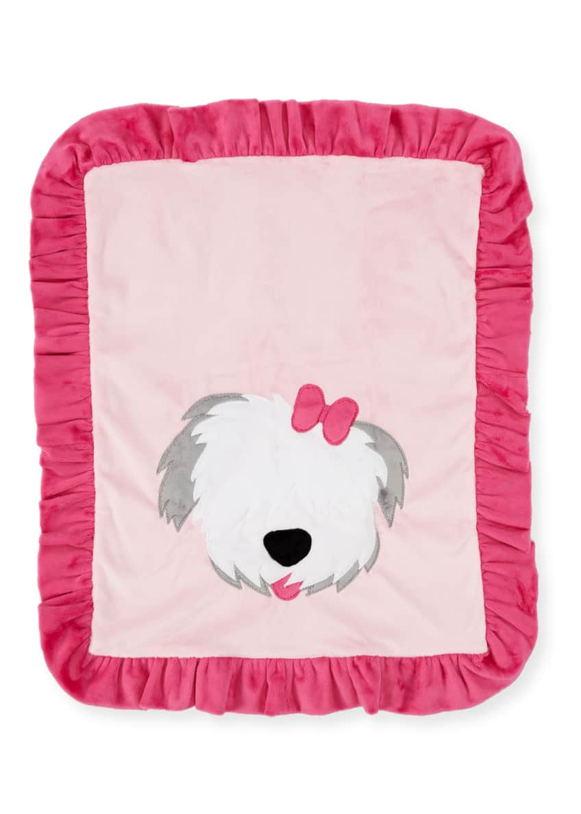 Image 1 of 1: Pup Love Plush Baby Blanket, Pink