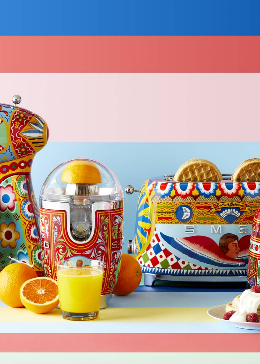 Image 7 of 7: Dolce Gabbana x SMEG Sicily Is My Love Toaster
