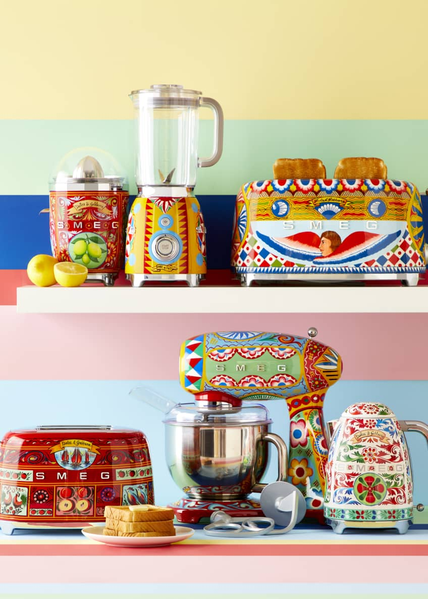Image 6 of 7: Dolce Gabbana x SMEG Sicily Is My Love Toaster