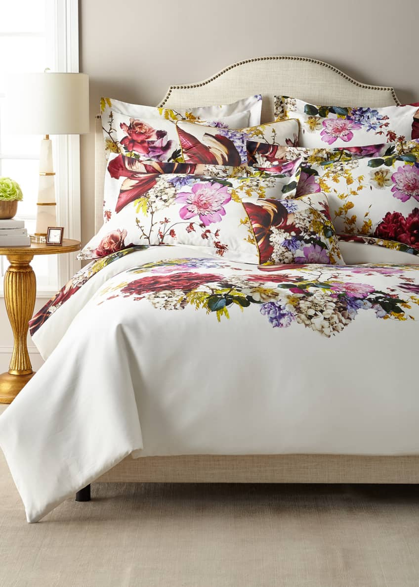 Image 4 of 5: Floris Queen Duvet Cover