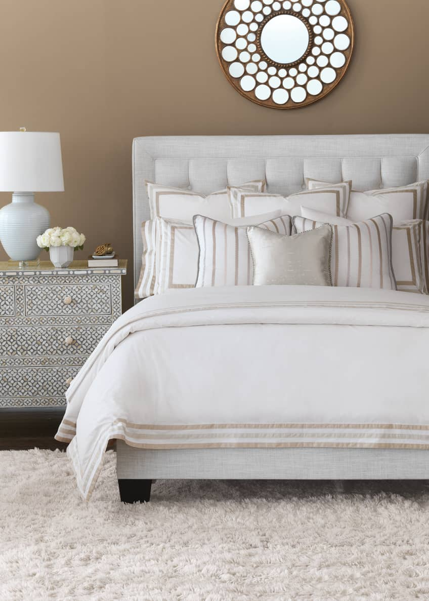 Image 2 of 2: Watermill Taupe Oversized Queen Duvet