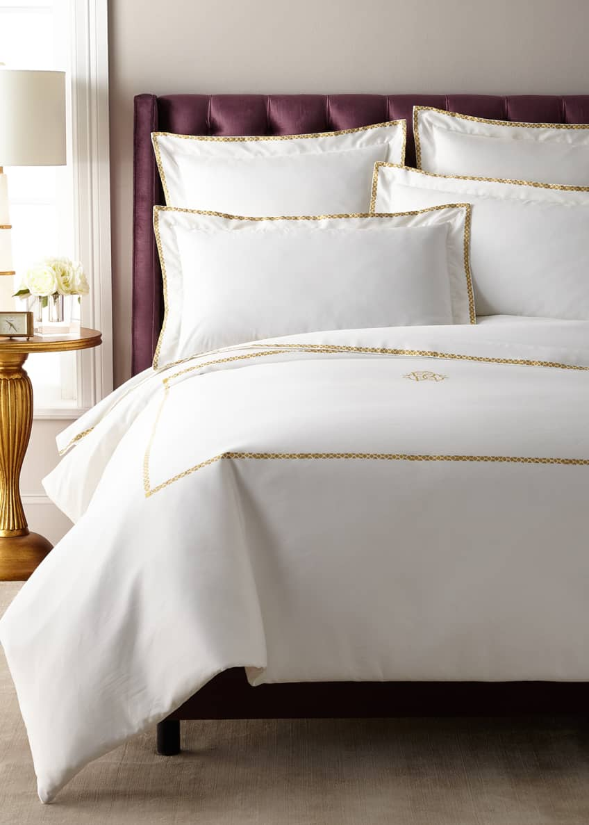 Image 3 of 4: New Gold Queen Duvet Cover