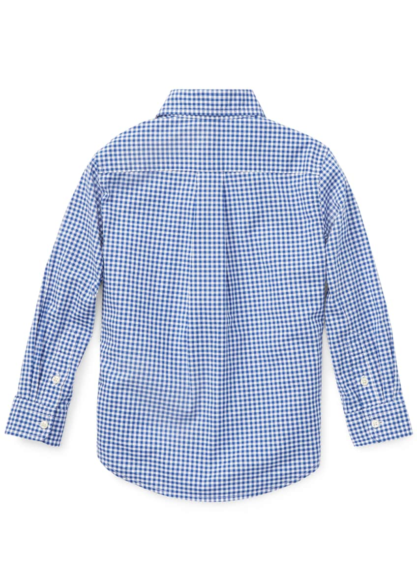 Image 4 of 4: Poplin Woven Gingham Sport Shirt, Size S-XL
