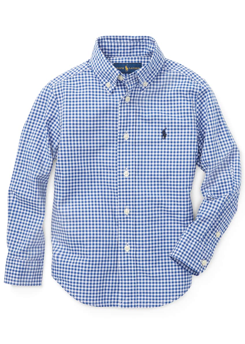 Image 3 of 4: Poplin Woven Gingham Sport Shirt, Size S-XL