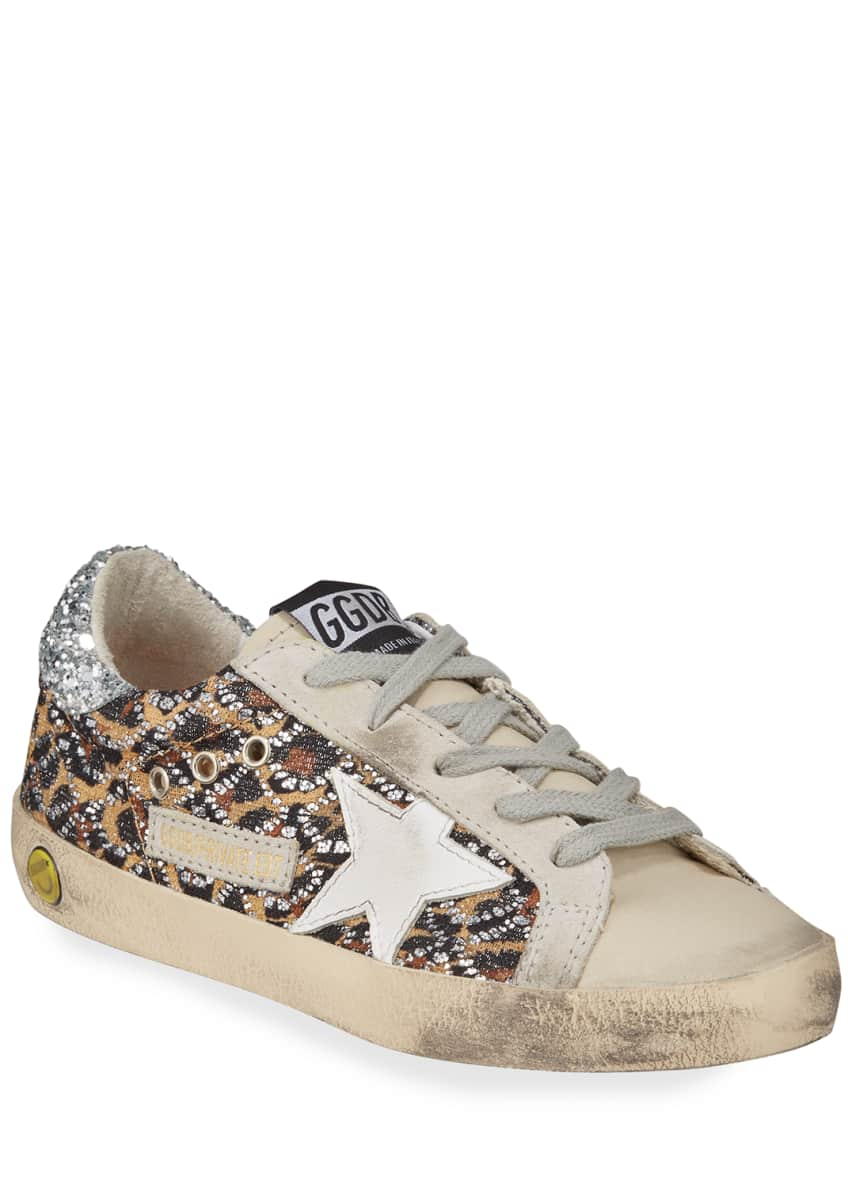 Image 2 of 2: Superstar Leopard Embellished Sneakers, Baby/Toddler