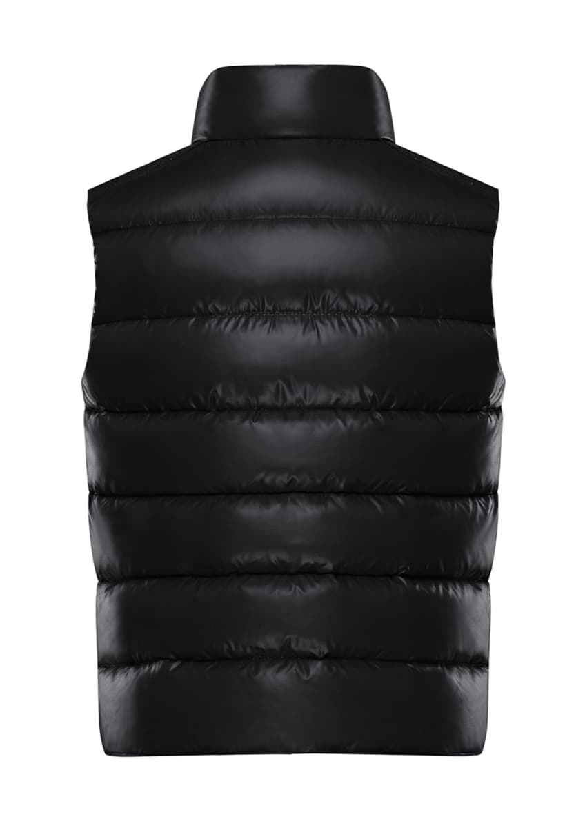 Image 4 of 4: Quilted Nylon Snap-Front Puffer Vest, Size 4-6