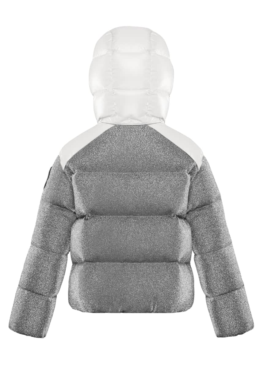 Image 4 of 4: Chouette Sparkles Detachable-Hood Puffer Coat, Size 8-14