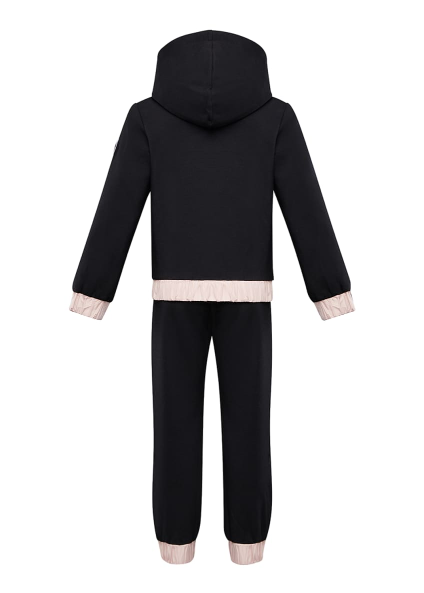 Image 4 of 4: Contrast-Trim Hoodie w/ Matching Sweatpants, Size 4-6