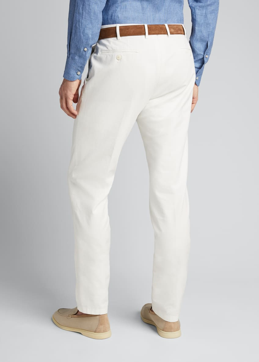 Image 2 of 5: Men's Comfort Slim-Stretch Cotton Trousers