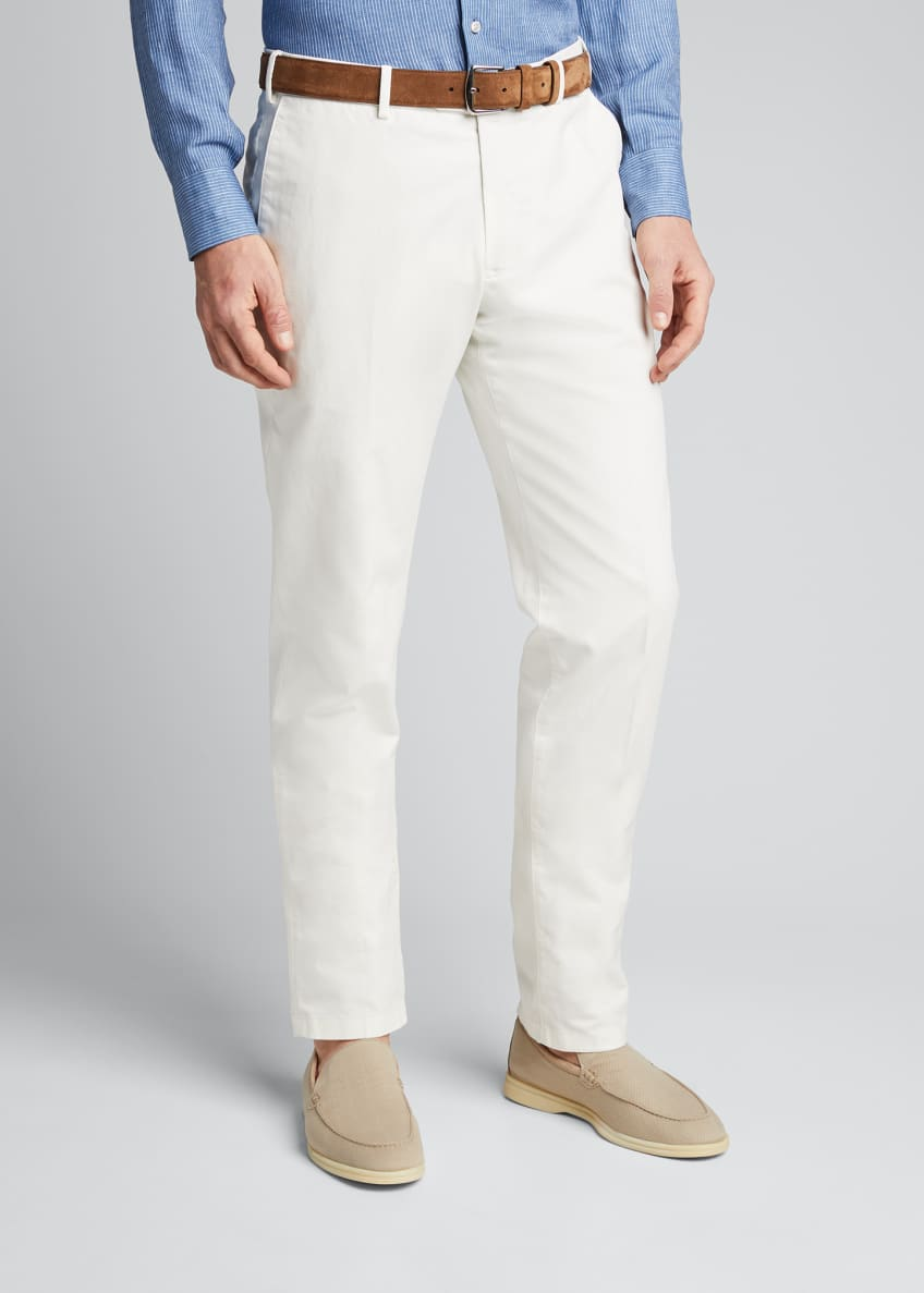 Image 3 of 5: Men's Comfort Slim-Stretch Cotton Trousers