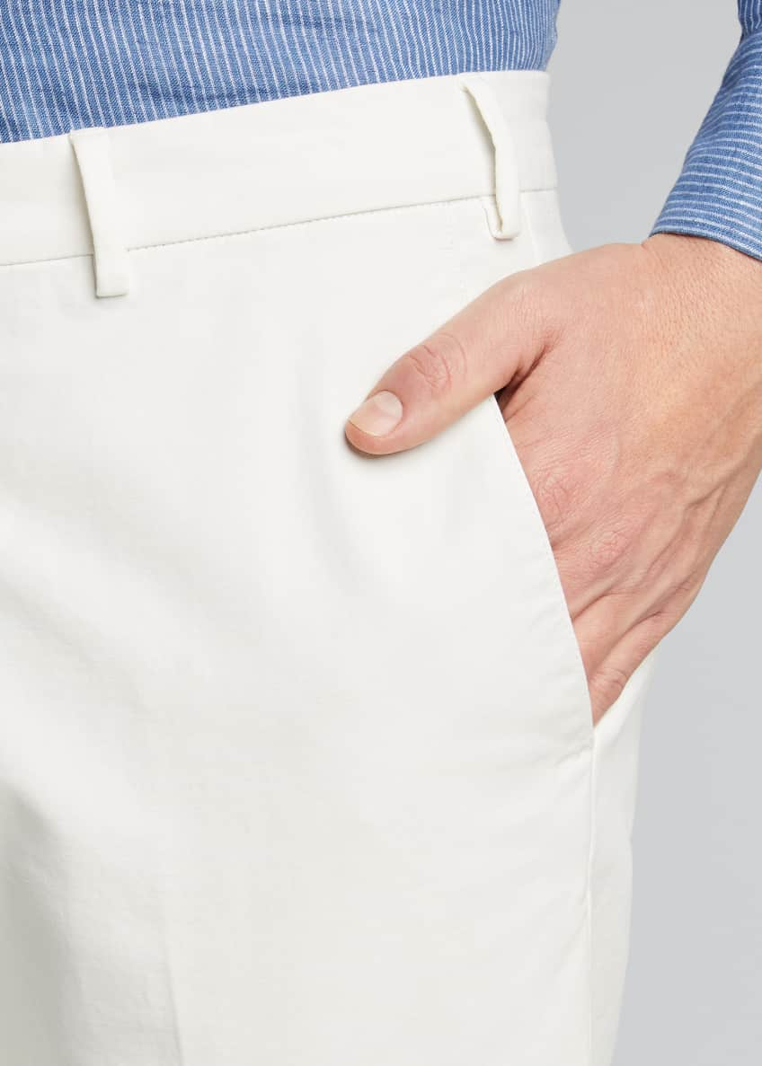 Image 4 of 5: Men's Comfort Slim-Stretch Cotton Trousers