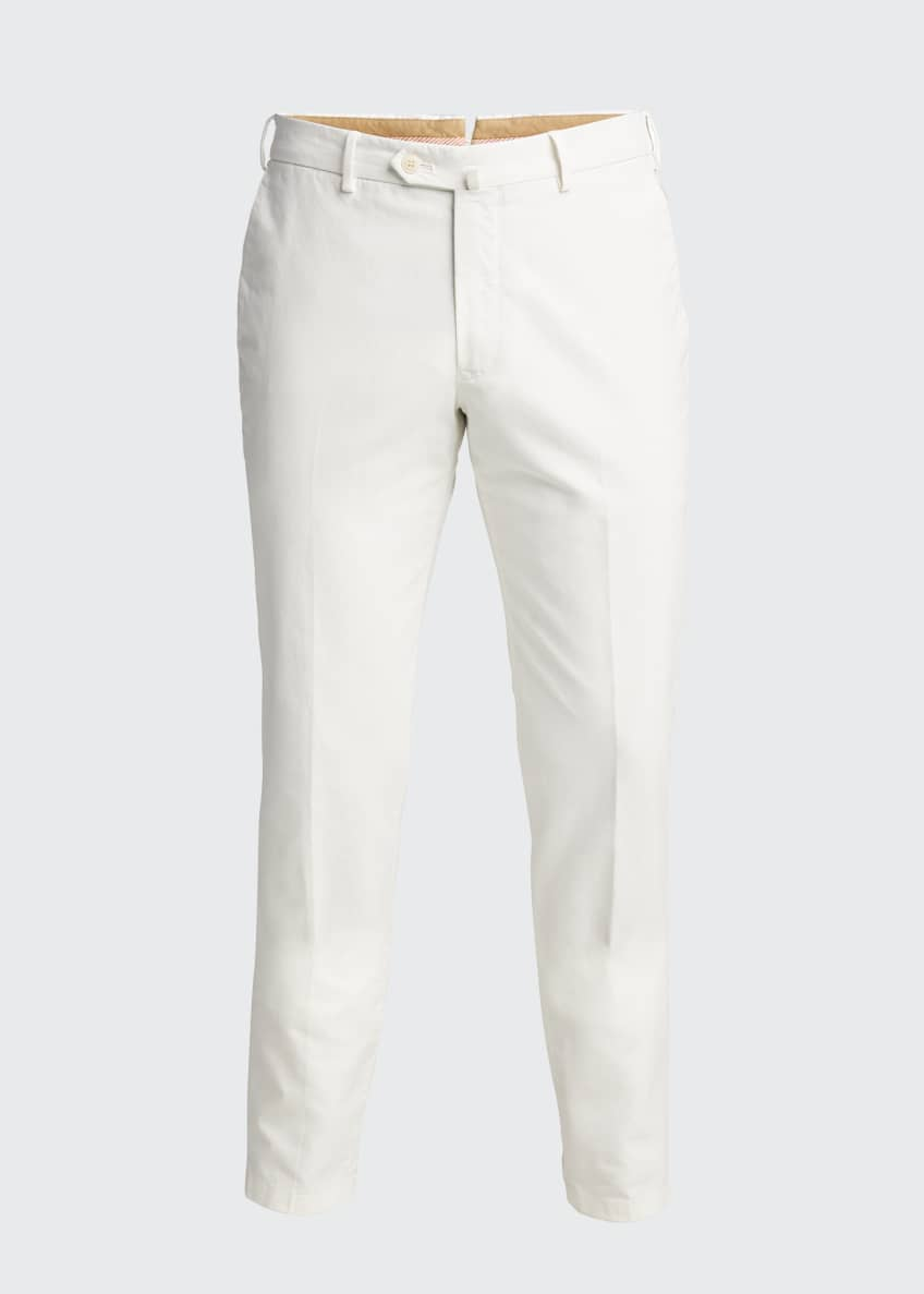 Image 5 of 5: Men's Comfort Slim-Stretch Cotton Trousers