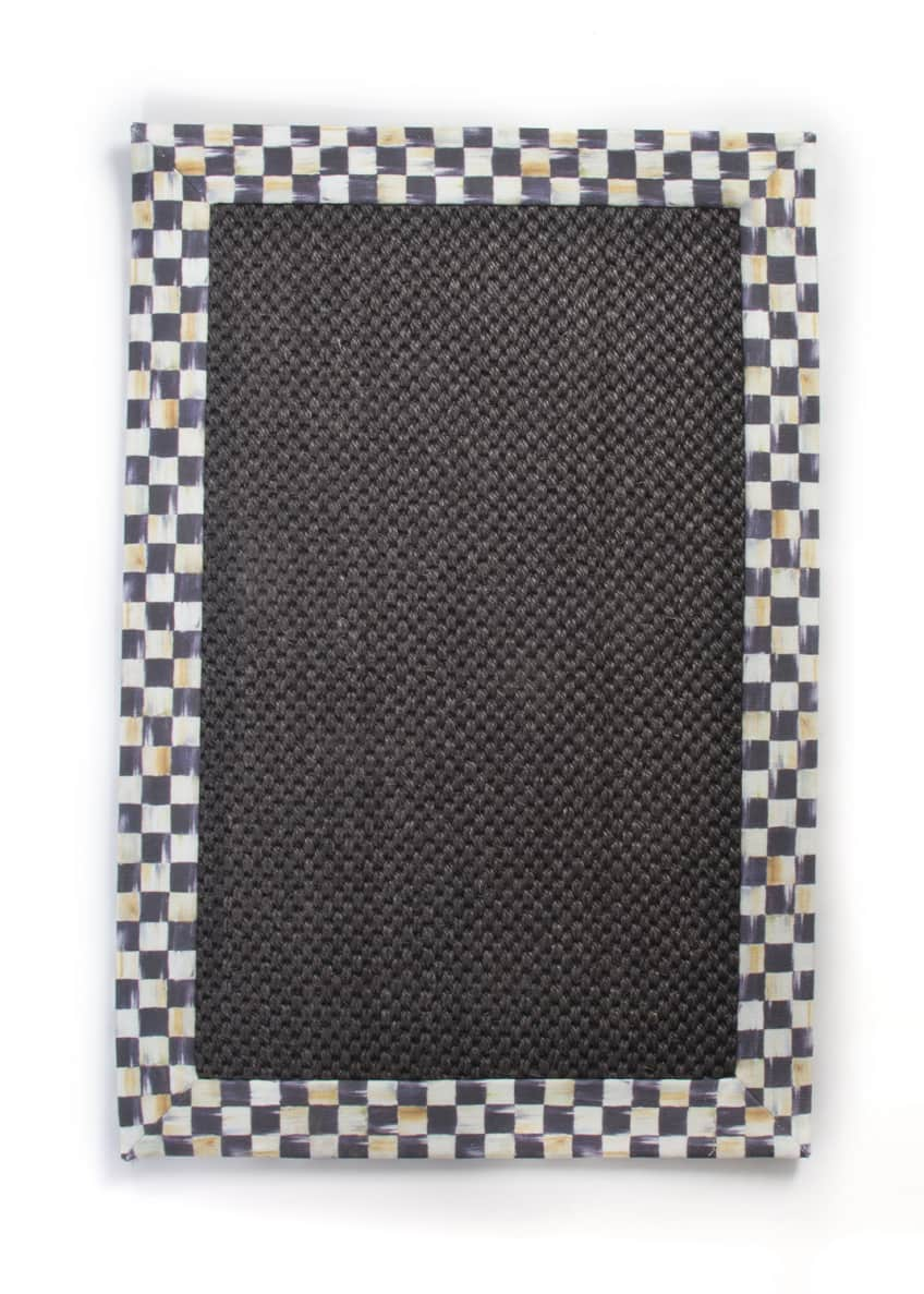 Image 1 of 1: Courtly Check Black Sisal Rug, 2' x 3'