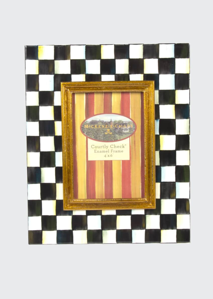 Image 1 of 1: Medium Courtly Check Photo Frame