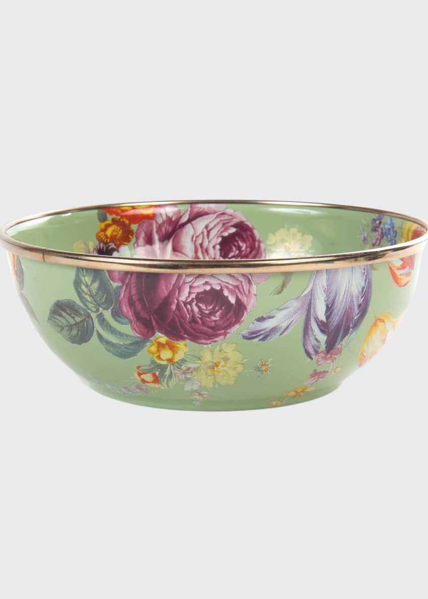 Image 1 of 1: Flower Market Green Everyday Bowl