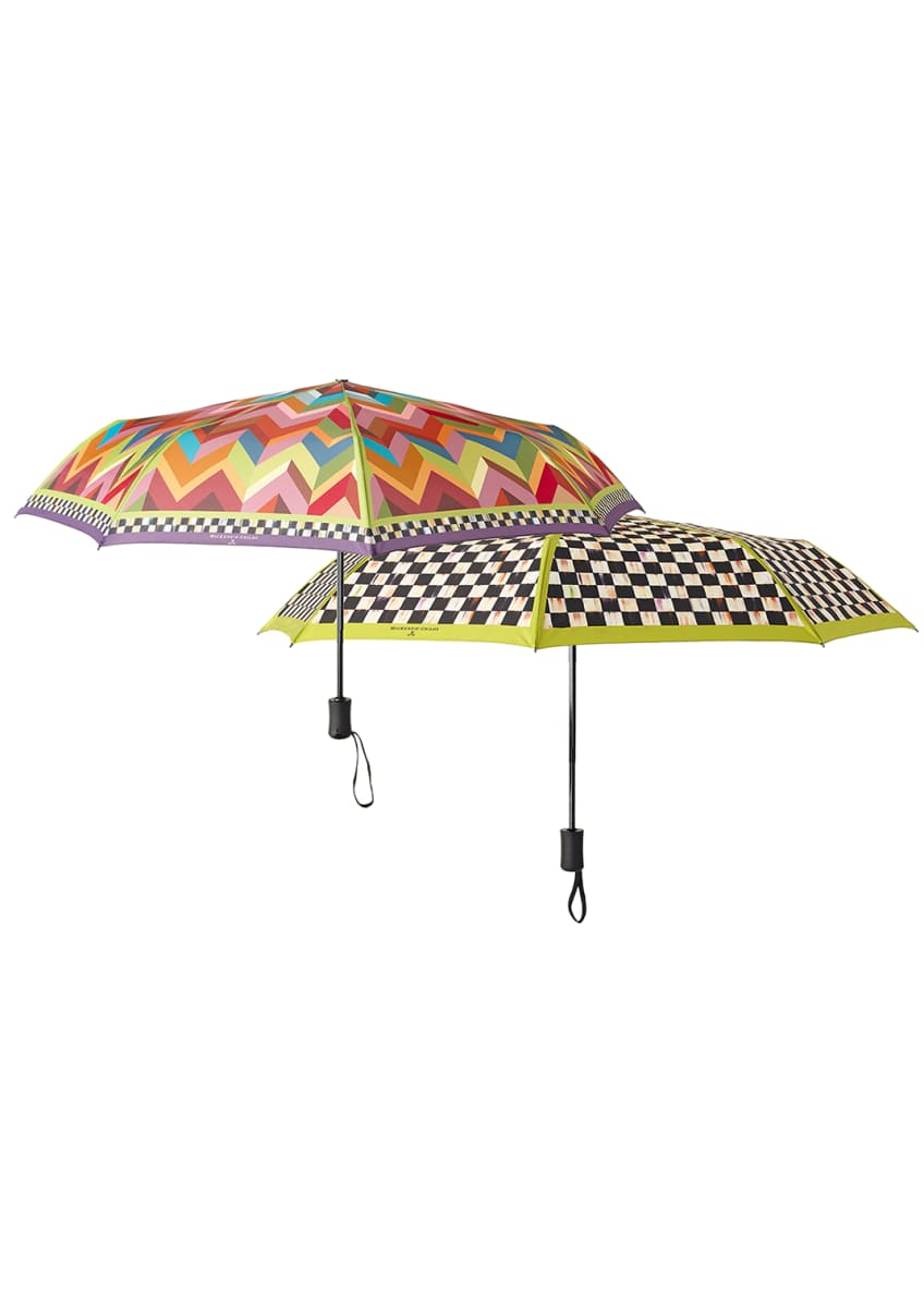 Image 2 of 2: Courtly Check Travel Umbrella