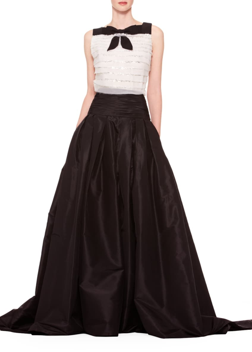 Carolina Herrera Sleeveless Tiered Bow Top & Long