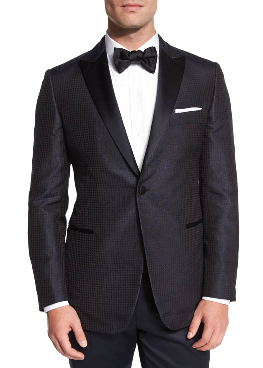 Belvest Dotted Silk Dinner Jacket & Formal Pants