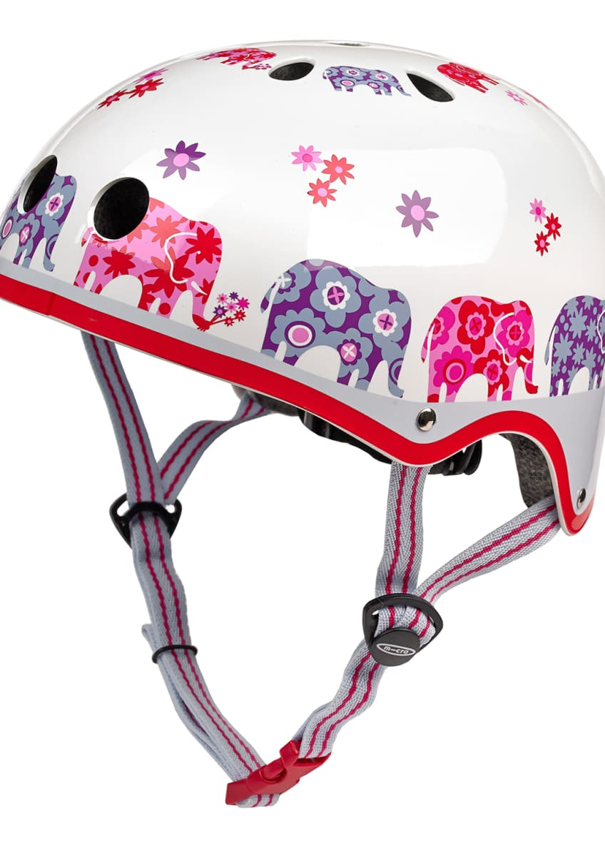 Image 1 of 3: Girls' Elephant-Print Helmet