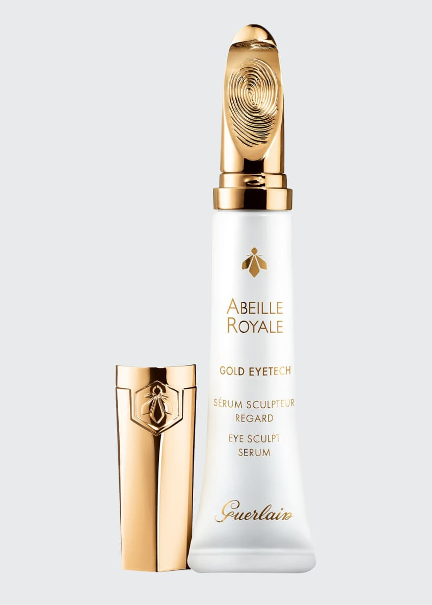 Image 1 of 5: Abeille Royale Eye Sculpt Serum with 22K Gold Coated Applicator, 15 mL