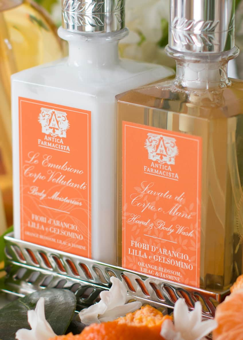 Image 2 of 2: Orange Blossom Hand Wash & Moisturizer Gift Set with Tray