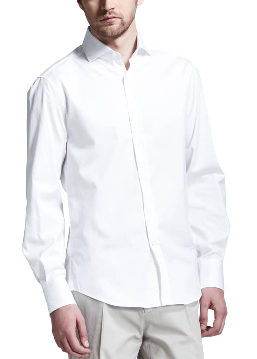 Brunello Cucinelli 2-Ply Cashmere Half-Zip Sweater, Button-Down