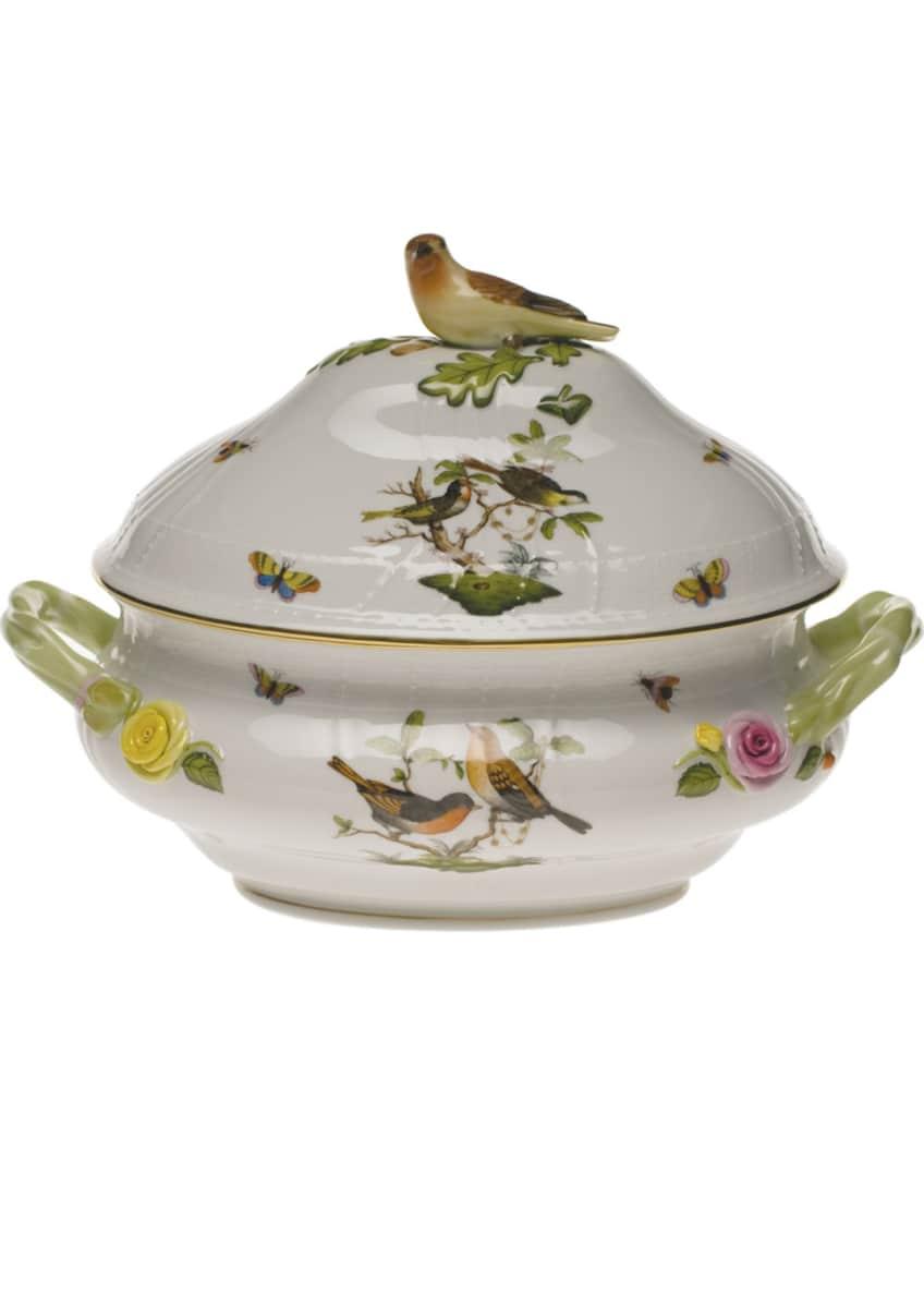 Herend Rothschild Bird Green Tureen Motif 05