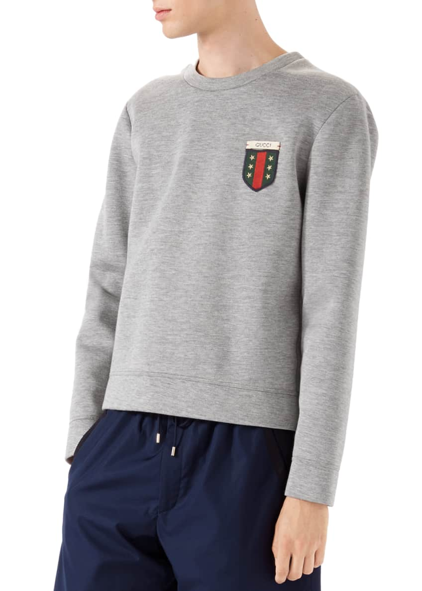 Gucci Long-Sleeve Knit Pullover, Caspian Piece Dyed Shorts