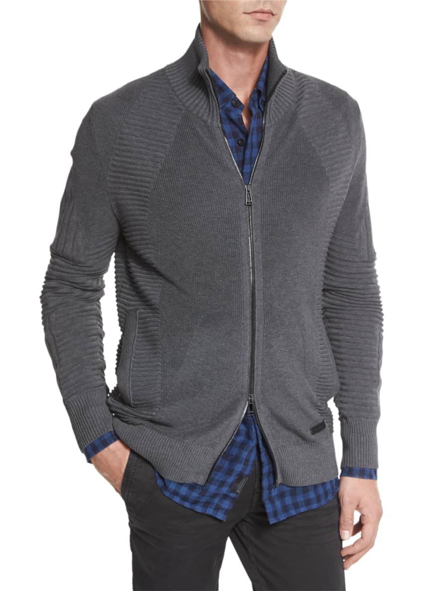 Belstaff Karson Multi-Stitch Zip-Up Jacket, Stan Check