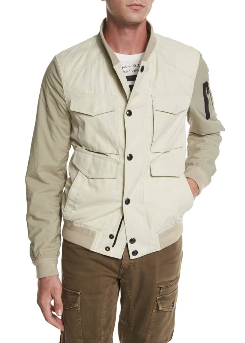 Belstaff Ashvale Nylon-Cotton Bicolor Jacket, Tanner
