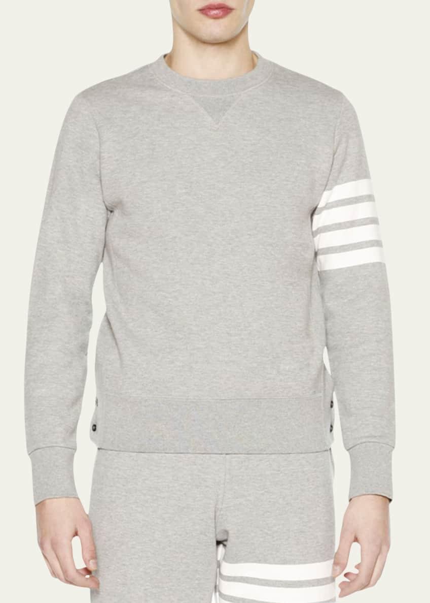 Thom Browne Crewneck Four-Stripe Sweatshirt & Sweatpants, Light