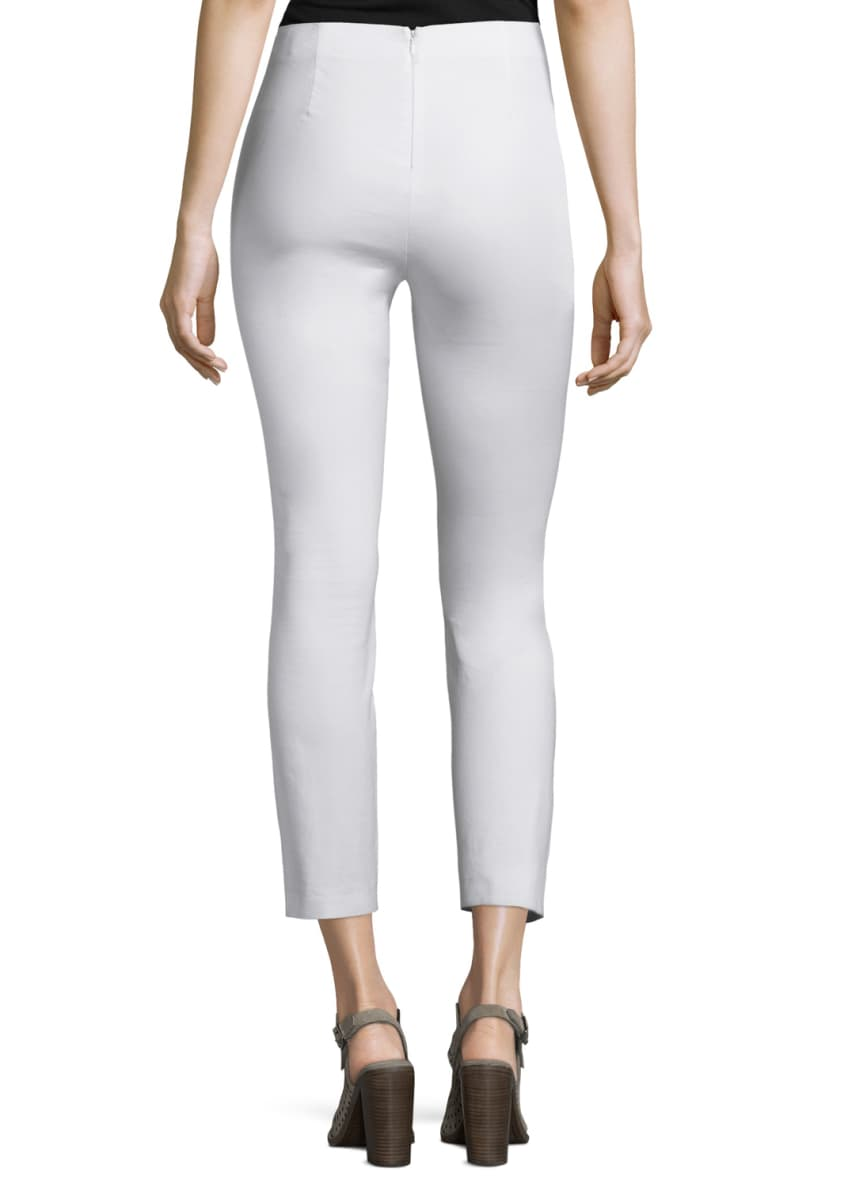 Image 2 of 3: Simone Cropped Skinny Pants, White