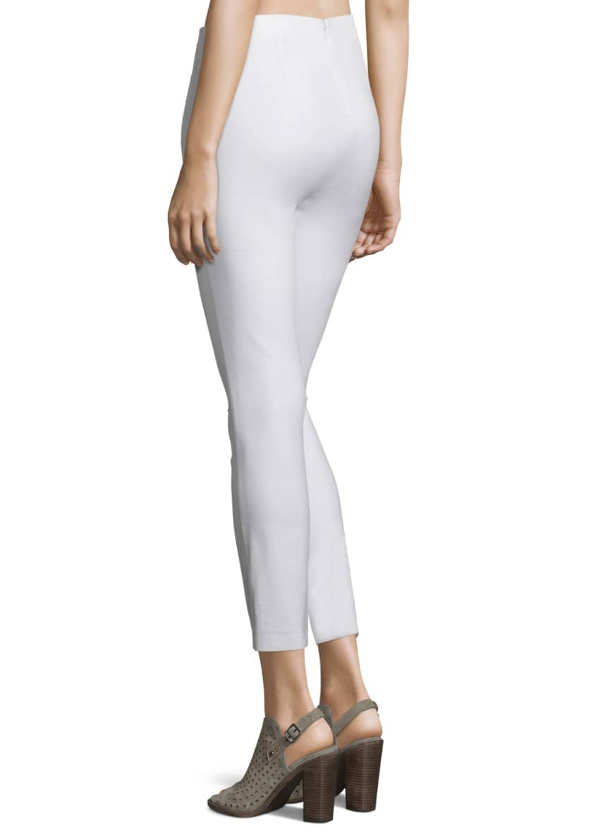 Image 3 of 3: Simone Cropped Skinny Pants, White