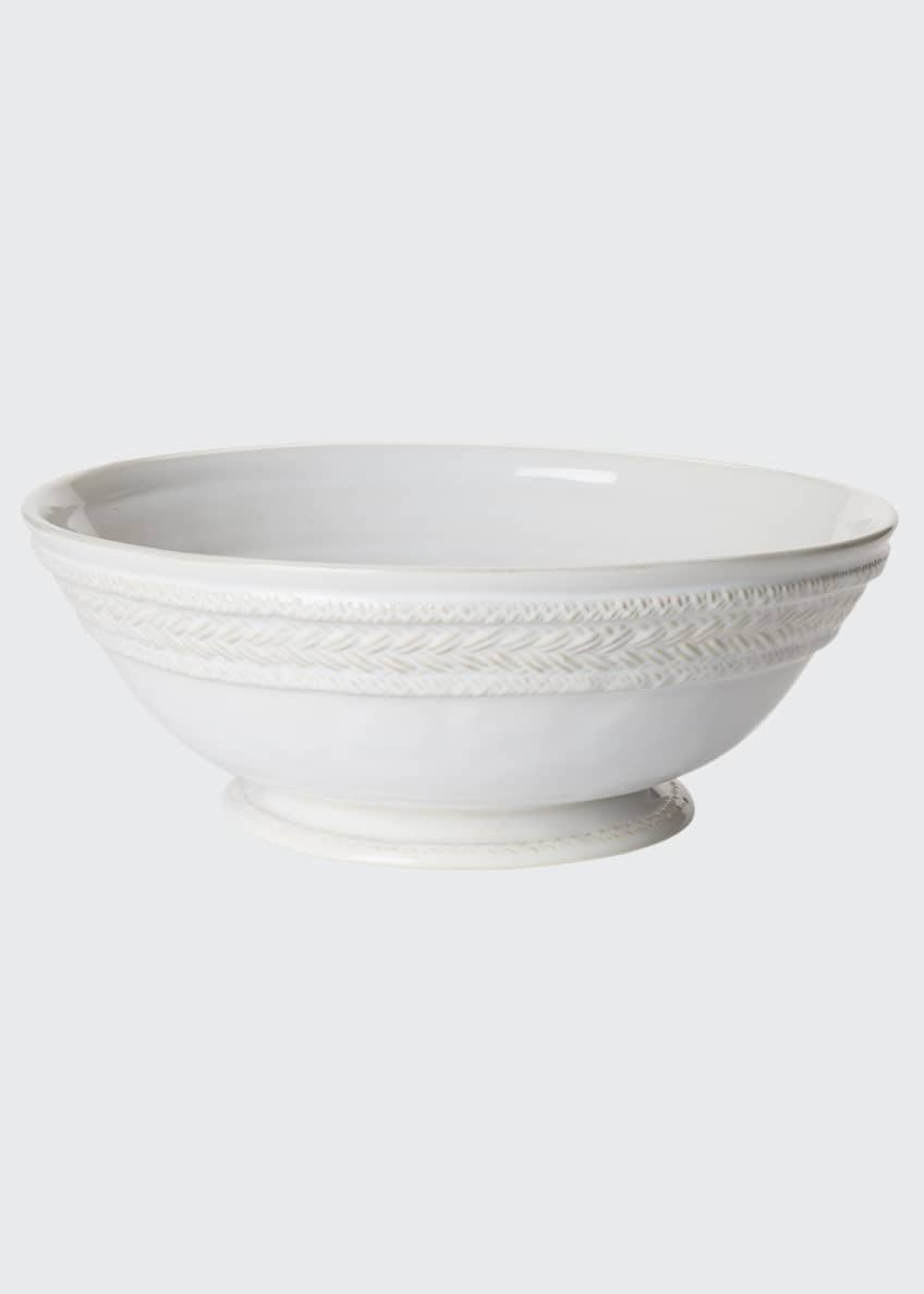 Image 1 of 1: Le Panier Whitewash Footed Fruit Bowl