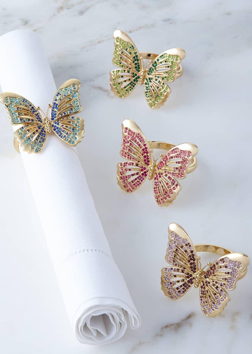 L'Objet Butterfly Napkin Rings, 4-Piece Set