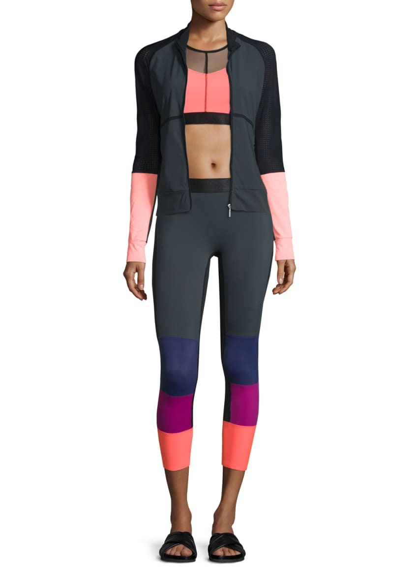 Monreal London Featherweight Perforated Colorblock Jacket,