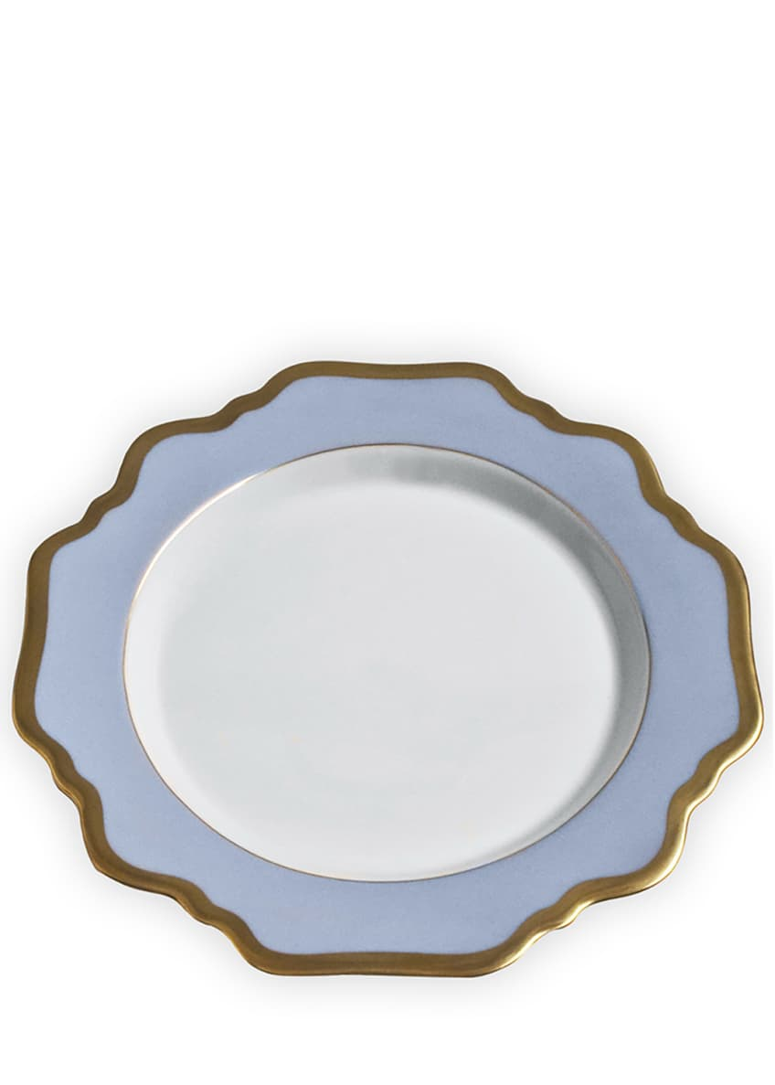Image 1 of 1: Anna's Palette Sky Blue Salad Plate