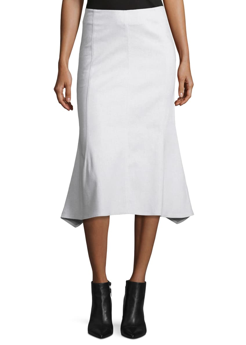 Derek Lam Sleeveless Pintucked Silk Blouse & Flared