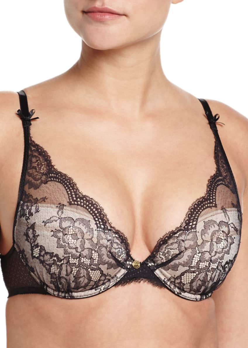Chantelle Pr�sage Push-Up Bra, Hipster Briefs, & Garter