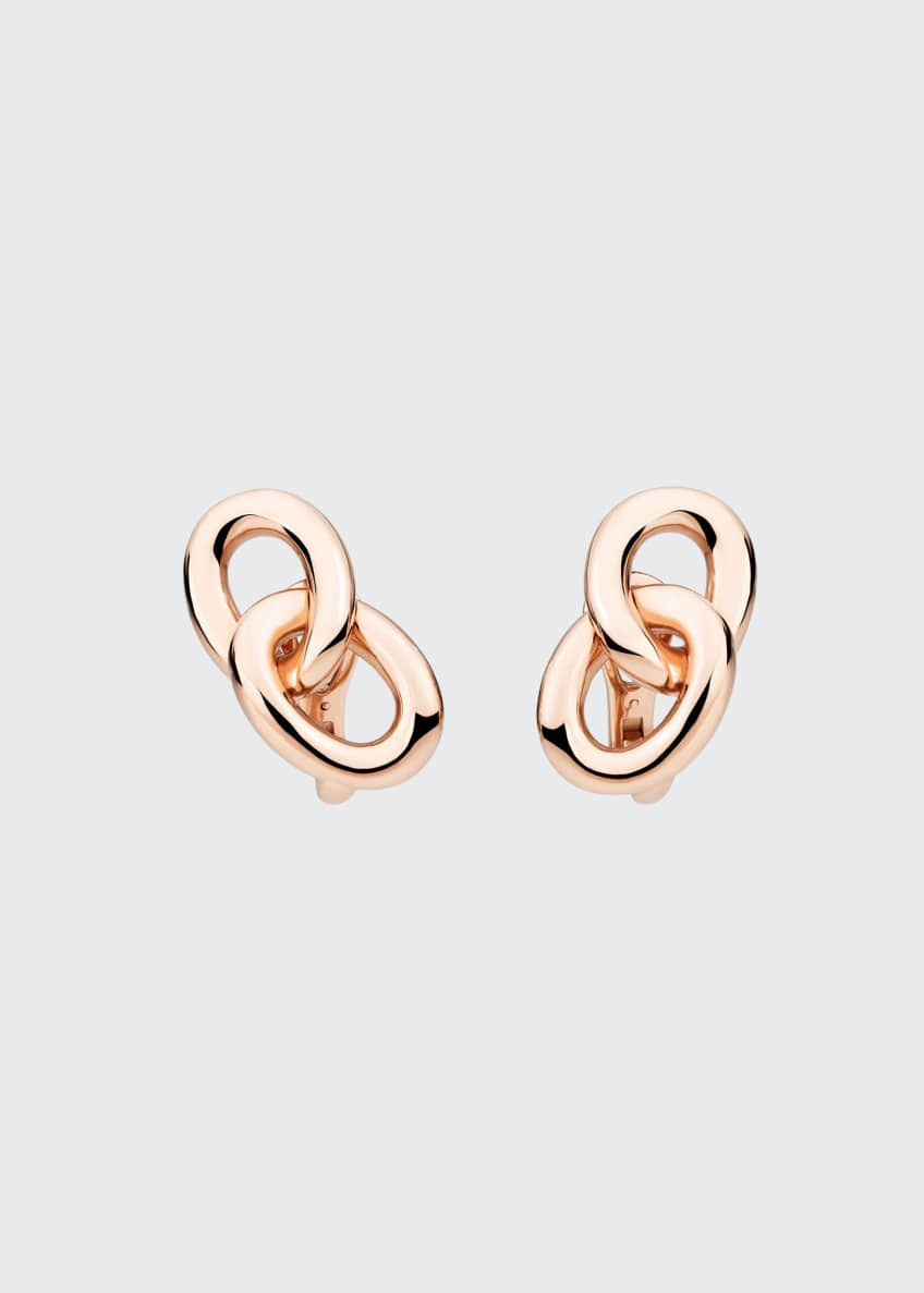 Image 1 of 1: Tango 18K Rose Gold Clip/Post Earrings