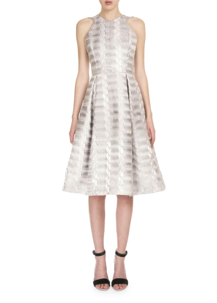Mary Katrantzou Abstract Jacquard Collarless Coat & Sleeveless