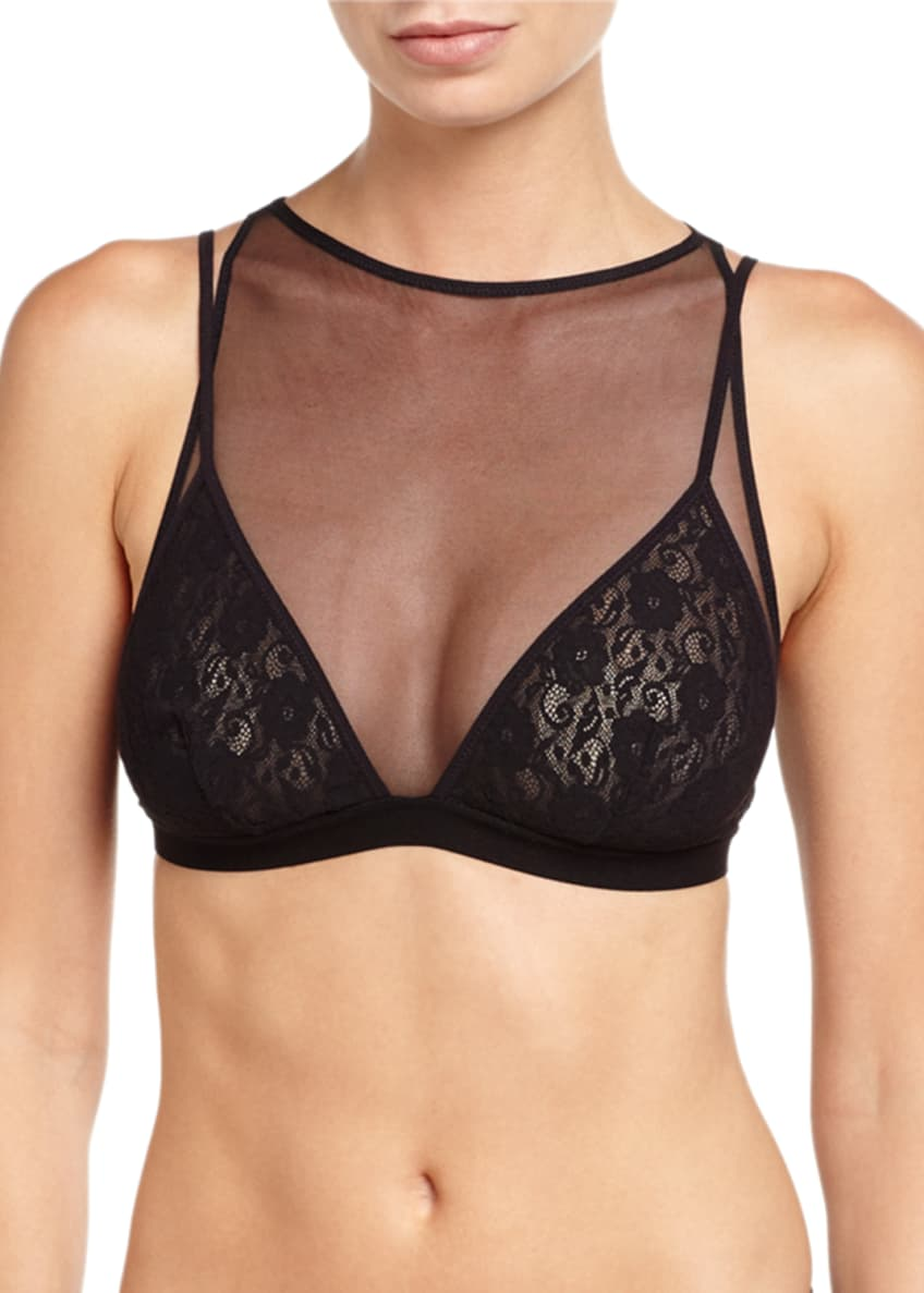 Cosabella Bisou Adore All Over Bralette & G-String,