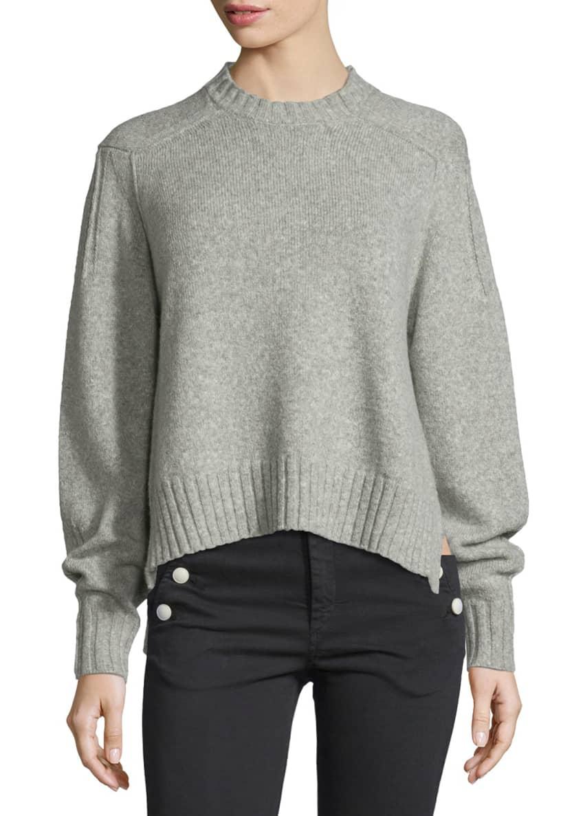 Isabel Marant Long-Sleeve Crewneck Sweater & High-Waist