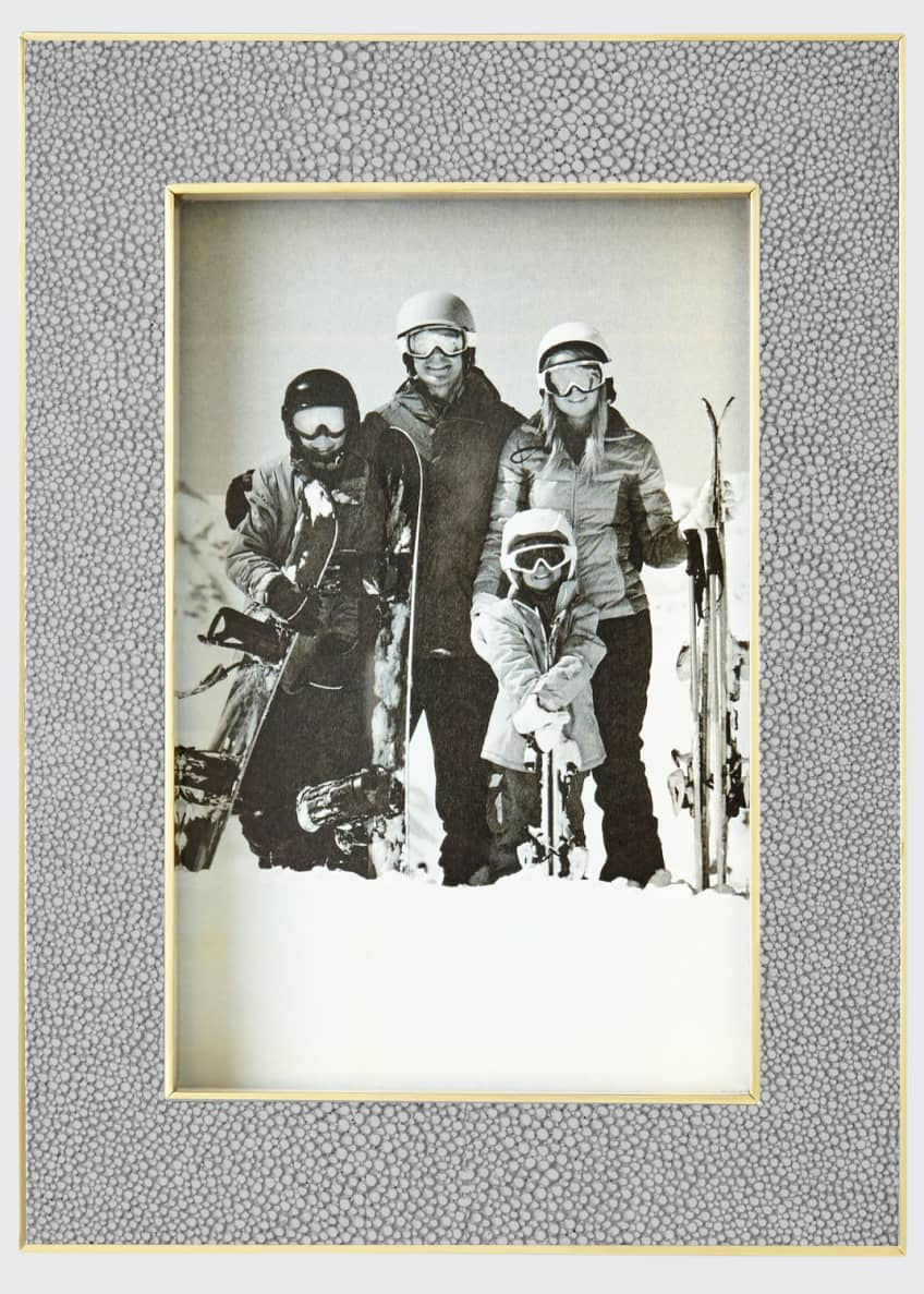 AERIN Classic Dove Faux-Shagreen Frame, 4