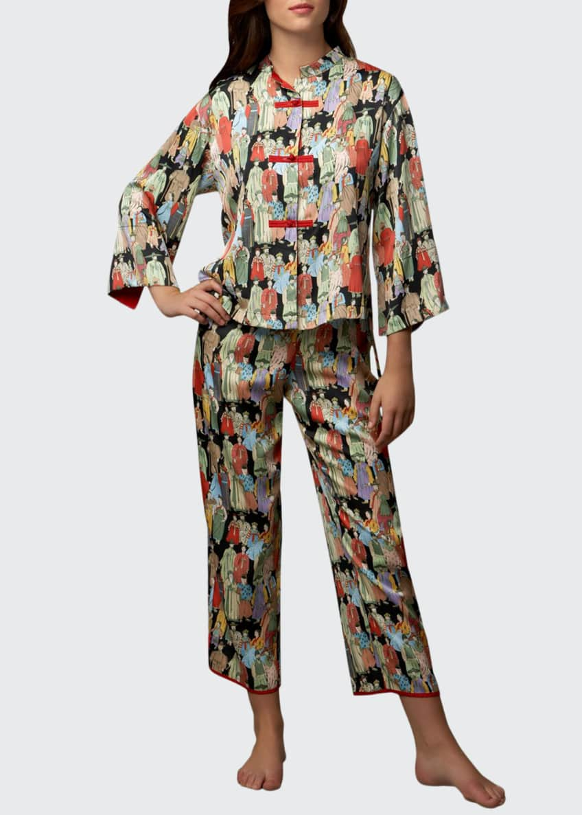 Image 1 of 1: Two-Piece Dynasty Printed Pajamas