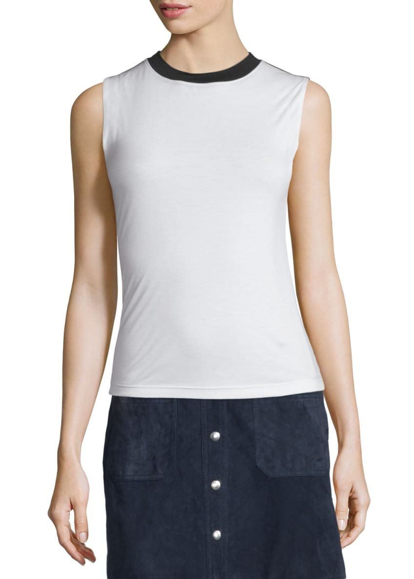 Rag & Bone Beech Two-Tone Jersey Top &