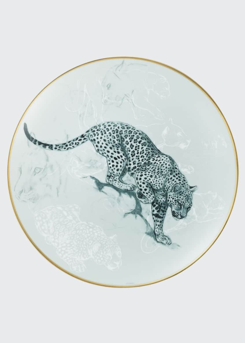 Hermès Carnets d'Equateur Panther Salad Plate